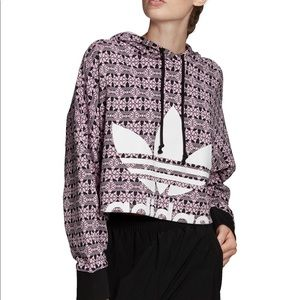 Adidas Originals Trefoil Cropped Sweatshirt NEW